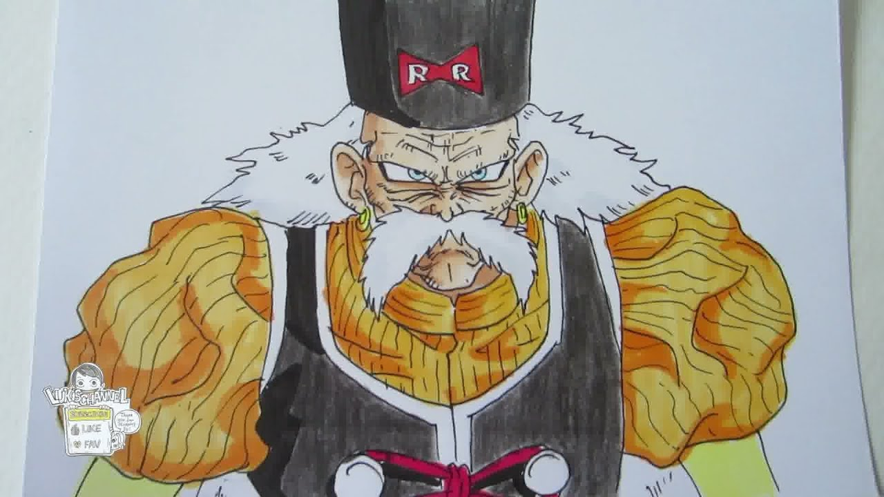 How To Draw Android 20 Dr Gero From Dragon Ball 人造人間20号