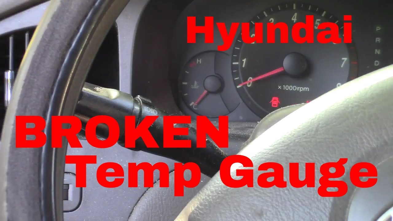how to diagnose and repair temp guage 2004 hyundai elandtra youtube rh youtube com