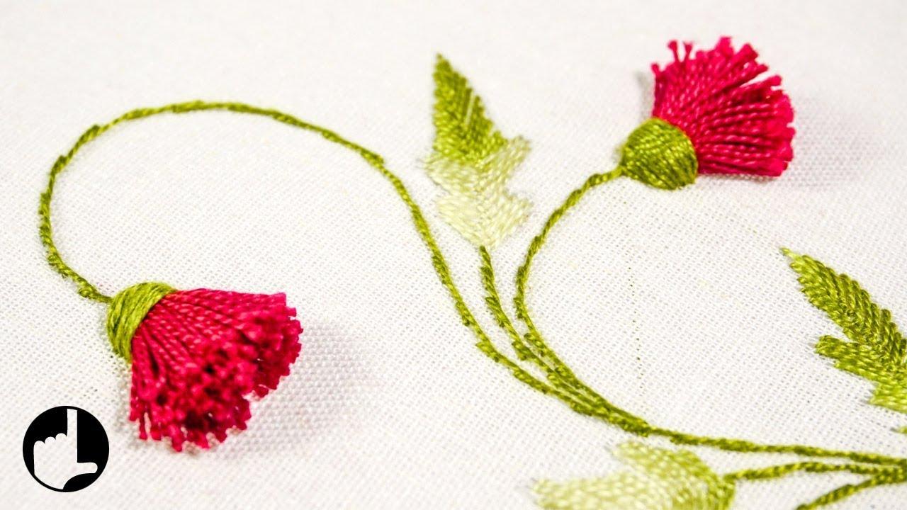 Learn Hand Embroidery By Hand Diy Flower Designs Handiworks 120