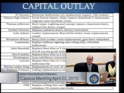 Edison New Jersey Public Schools 2015-2016 Preliminary Budget Presentation