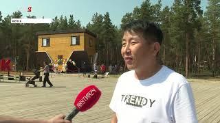 Перевернутый дом появился в городском парке Якутска