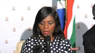 Public Protector briefs press on the leaking of the Nkandla report