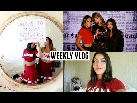 VLOG best friend came to visit me, college stuff, meeting taylor swift !!!