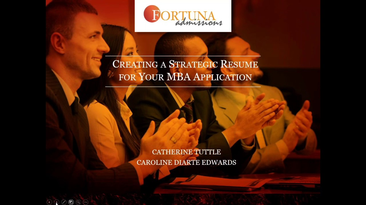 creating a strategic resume for your mba application july 28 2016