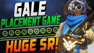 GALE INSANE ANA! PLACEMENT GAME! HUGE SR?! [ OVERWATCH SEASON 12 TOP 500 ]