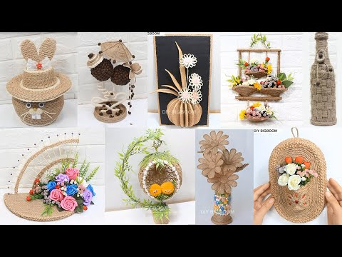 10 Jute craft decoration design collection | Home decorationg ideas