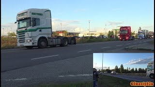 4K| Convoy To Truckers Night 2017 + Inside The Meet