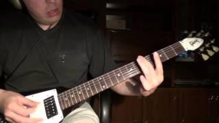 Злой РИФ на электрогитаре (очень простой)