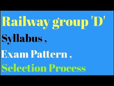 Railway Group D Syllabus and Exam patterns full details