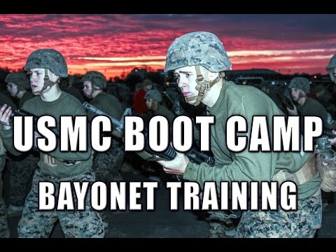 Marine Corps Boot Camp Bayonet Training