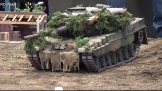 Modellbaumesse Leipzig 2014 ♦ Bundeswehr Panzer Leopard RC Tanks ♦ Modell Hobby Spiel Modellbau