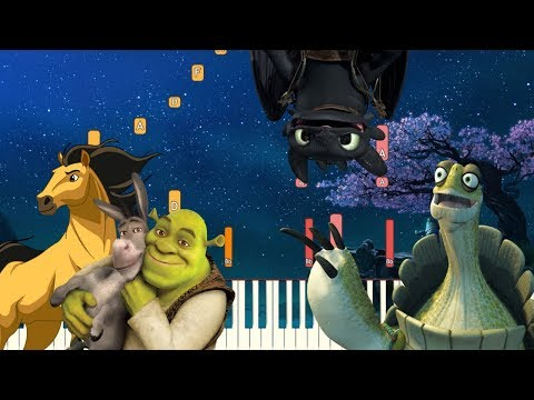 5 Beautiful Themes from DreamWorks Animation  Piano Tutorial Synthesia