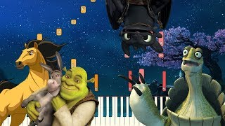 5 Beautiful Themes from DreamWorks Animation | Piano Tutorial (Synthesia)