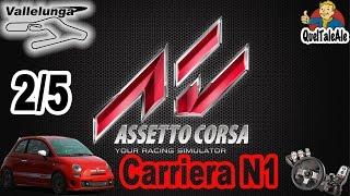 Assetto Corsa - Gameplay ITA - Logitech G27 - Carriera #02 N1 2/5 Gara 500 Abarth Vallelunga