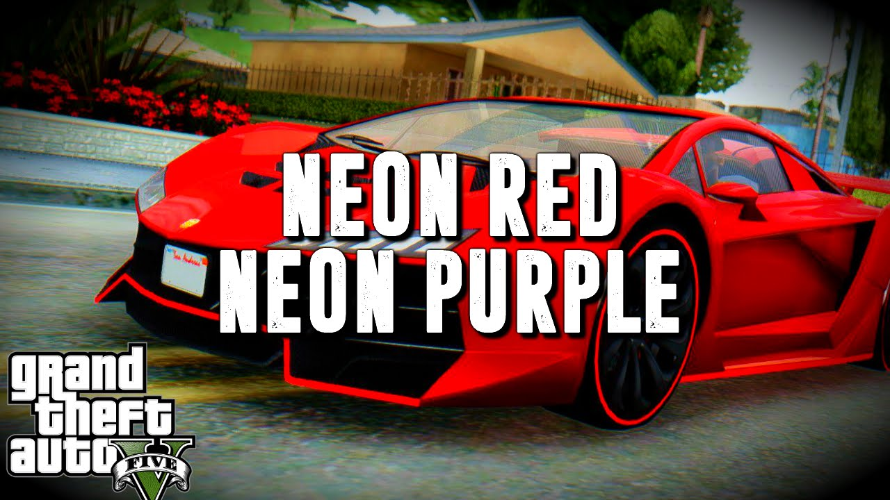 Color on online - Gta 5 Online Bright Purple And Neon Red Gta V Crew Colors Youtube