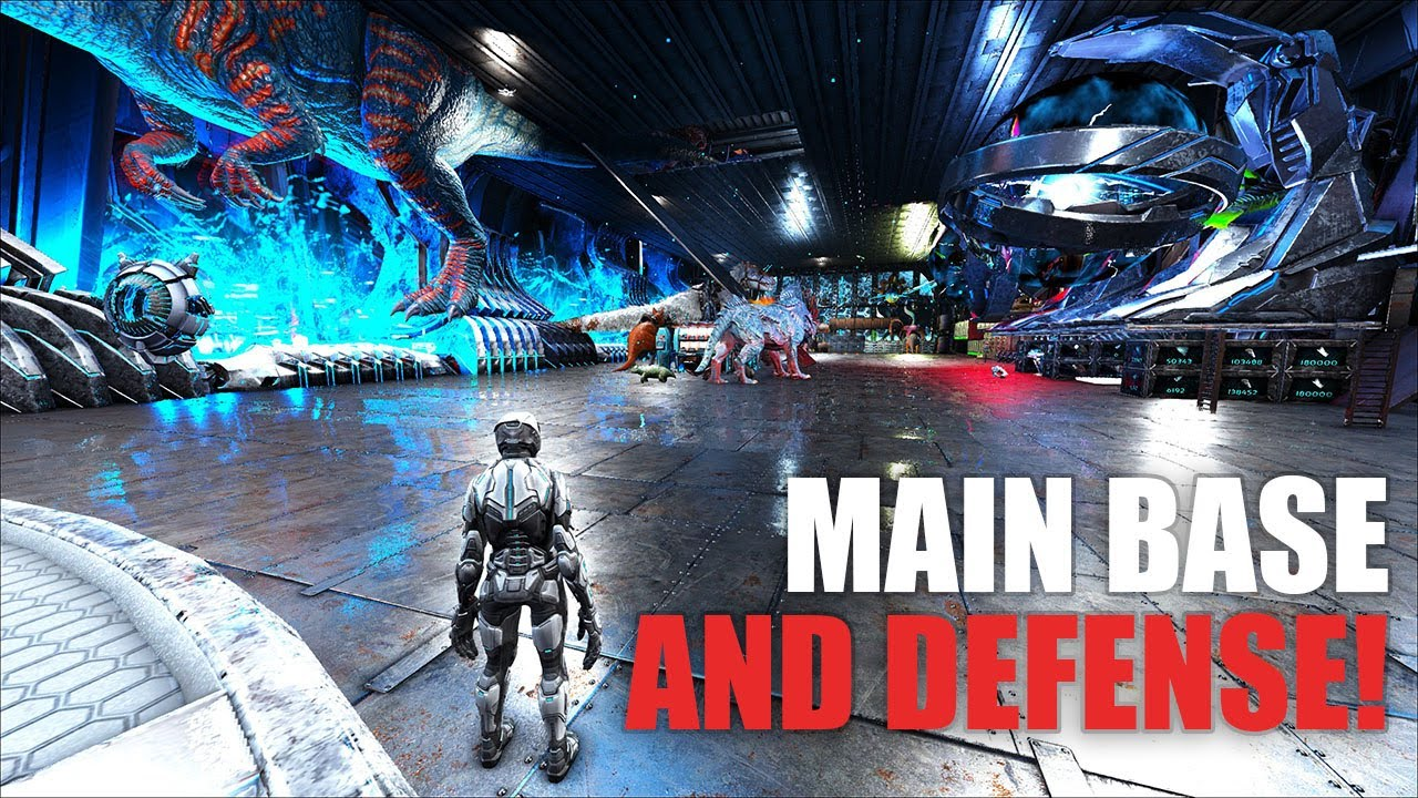 Download Building Our Main Gen 2 Base And Glowtail Defense | Ark Official PVP Gen 2 E13