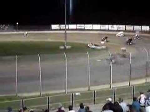 6/21/08 Lake Ozark Speedway 360 Sprint Cars A-Main Finish