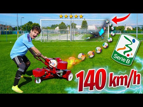 BALL LAUNCHER VS PROFESSIONAL GOALKEEPER (ITALIAN SERIE B) - ZW JACKSON
