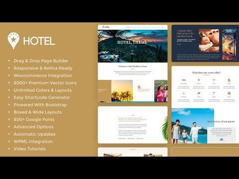 Hotel WordPress Theme Presentation - Hotel Website Builder