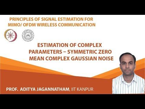 Estimation of Complex Parameters – Symmetric Zero Mean Complex Gaussian Noise