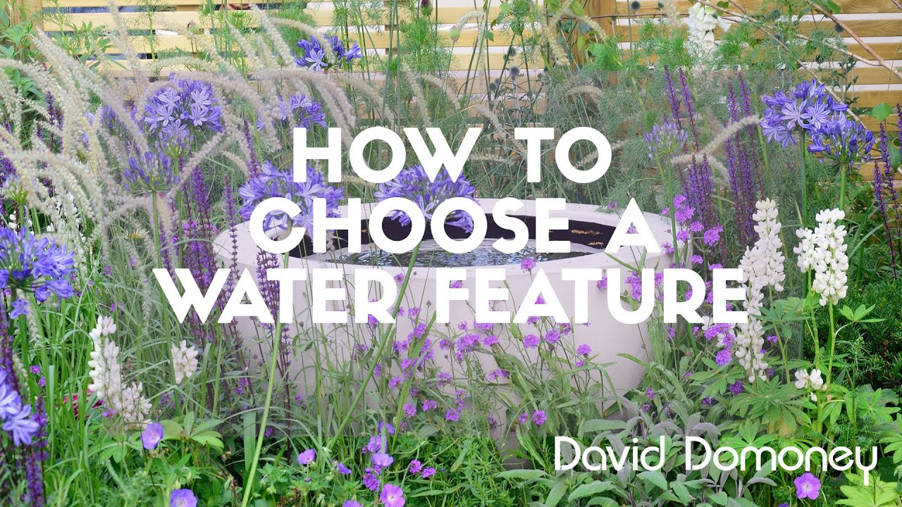 David Domoney How To Choose A Water Feature Youtube