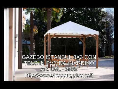 GAZEBO ISTANBUL 3X3 CON TELO IN PVC DA GIARDINO - YouTube