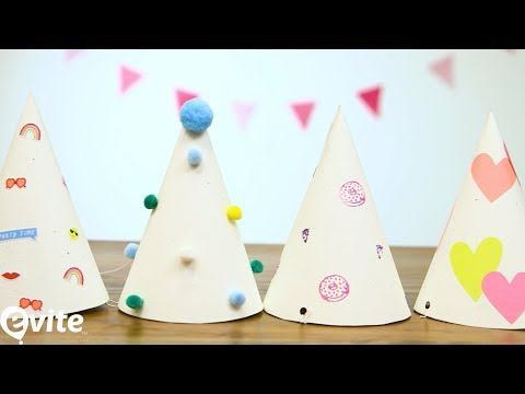 How to Make Birthday Hats for Kids 🎉 | Evite DIY