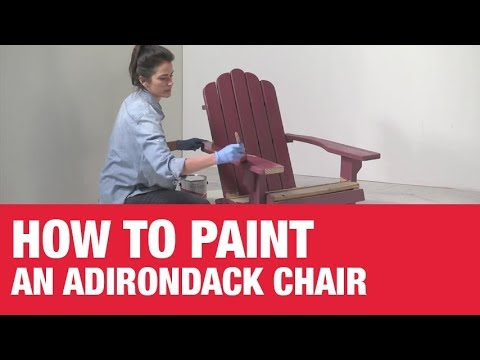 How To Paint An Adirondack Chair Ace Hardware Youtube