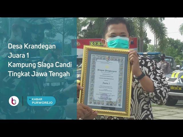 Desa Krandegan Juara 1 Kampung Siaga Candi Tingkat Jawa Tengah