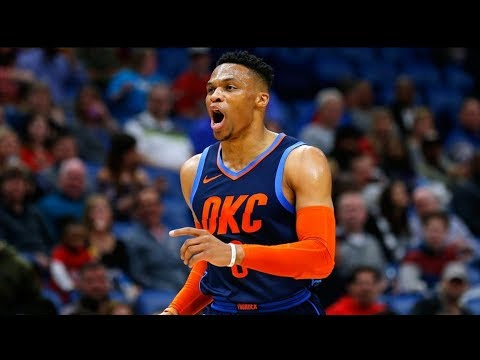 Westbrook 44 Pts! Ferguson Hits Head on Backboard! 2018-19 NBA Season