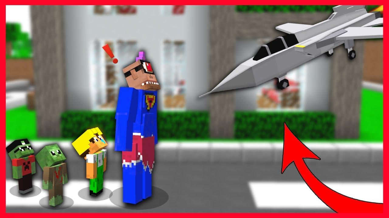SÜPER TEPEGÖZ'E UÇAK ÇARPIYOR! 😱 - Minecraft