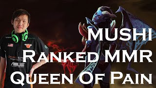 Mushi Queen of Pain Ranked Solo MMR Ghost Scepter Build Comeback (with subs)