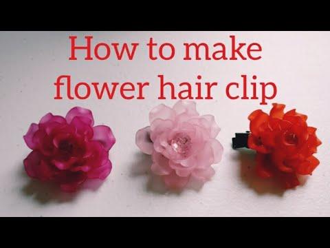 DIY Tutorial - Flower Hair Clip