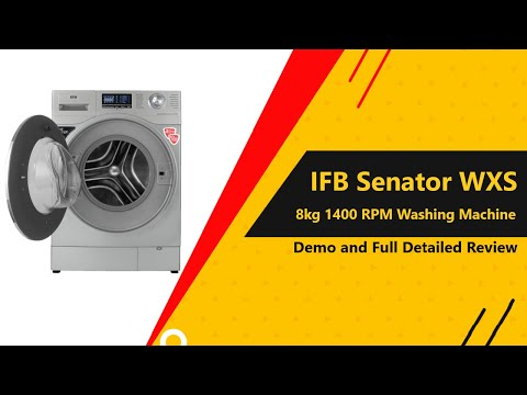 IFB SENATOR WXS 8 KG Fully Automatic Front Load Washing Machine | REVIEW