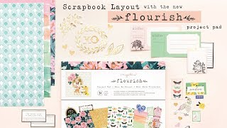 Scrapbook Layout with Flourish Project Pad