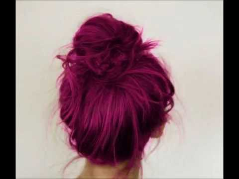 Plum Hair Colour: Tumblr Inspired - YouTube