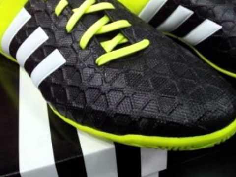 Sepatu Futsal Adidas Original ACE 15.4 Black Yellow B27007 - YouTube 3b6d9aeda0