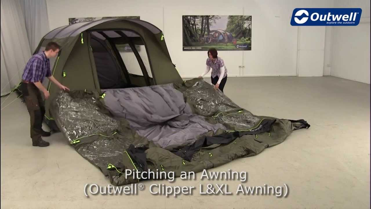 Outwell Clipper L XL Awning Pitching Video