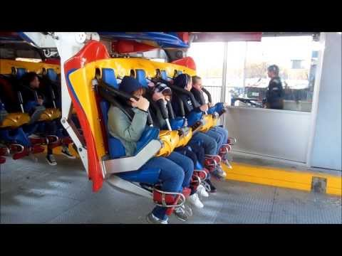 Six Flags Great Adventure: Superman the Ultimate Flight on Ride Front Row POV 1080p