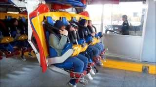six flags great adventure superman the ultimate flight on ride front row pov 1080p
