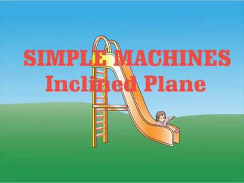 inclined plane simple machine real world simple machines inclined plane slide youtube