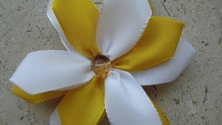 Как сделать цветы канзаши из атласных лент своими руками