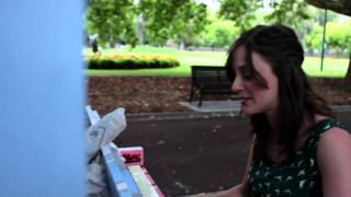 """Waitress/Actress"" (Original) by Gillian Cosgriff - Street Pianos Melbourne 2014"