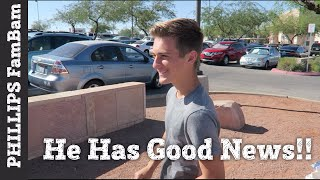 He FINALLY has GOOD NEWS!!! DRIVING and LEAVING to SAN FRANCISCO | PHILLIPS FamBam Vlogs