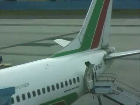 THE SIGHT & THE SOUND 1/13 : Balkan Bulgarian B 737-500 LZ-BOB documentary from Frankfurt to Sofia