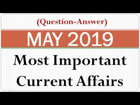 April 2019 most important current affairs one liner