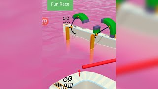 Fun Race -: 3D= Very Interesting Game For All.( Red Man, Green Man)