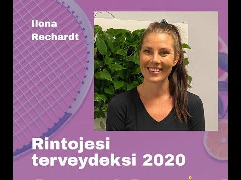 """Rintojesi terveydeksi 2020: """"Ravitsemuksen merkitys hyvinvoinnille"""" Ilona Rechardt"""