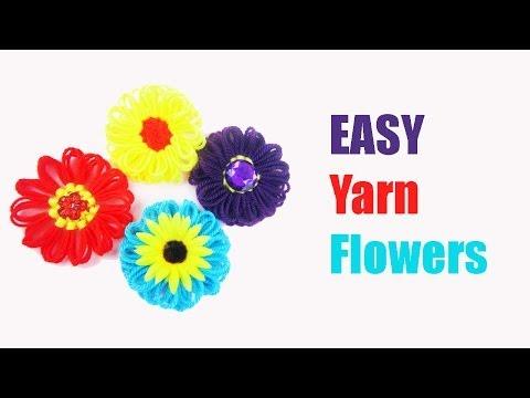 Craft: Make Flat Yarn Flowers - EP 717 - simplekidscrafts - simplekidscrafts