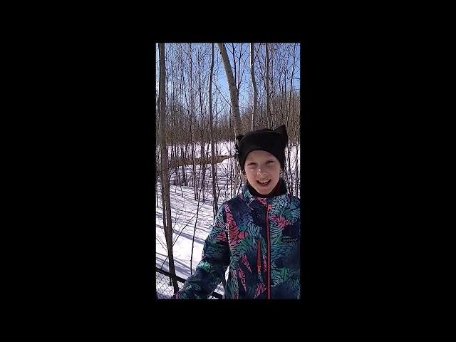 Изображение предпросмотра прочтения – АнастасияЛитвинова читает произведение «Сельская песенка» А.Н.Плещеева
